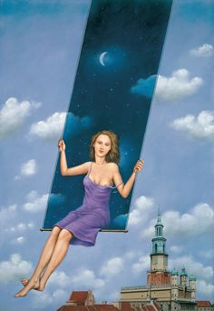 ghost in the machine - This is Surrealism: Rafal Olbinski Wassily Kandinsky, Ghost In The Machine, School Of Visual Arts, Rene Magritte, Surrealism Painting, Illustration, World Best Photos, Whimsical Art, Surreal Art