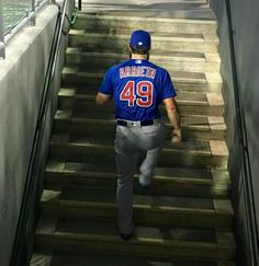 Arrieta #49 Go Cubs Go! Backyard Baseball, Softball Jerseys, Cubs Win, Go Cubs Go, Baseball Training, Cubs Baseball, Baseball Season, National League, World Series