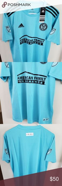 Adidas Atlanta United FC Parley Jersey Brand new with tags atlanta united parley soccer jersey PLEASE look at the size chart before purchasing, its a last picture. adidas Other Atlanta United Fc, Blue Adidas, Adidas Men, Adidas Soccer Jerseys, Size Chart, The Unit, Man Shop, Tags, Clothing