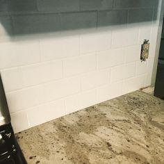 Gabraella King on Instagram: Subway tile backsplash #homerenovation #renovation #backsplash...