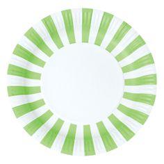 Green Stripe Plates $6.95