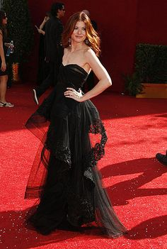 Best of the Emmys: Debra Messing in Monique Lhuillier (2008)