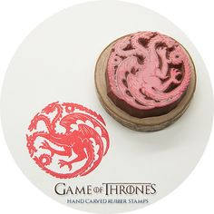 Game of Thrones, House Targaryen Sigil Hand Carved Rubber Stamp