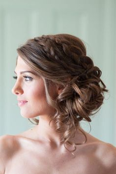 Double braid side updo