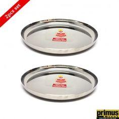 Primus Steel Round Dinner Plate Medium Set of 2 Pcs