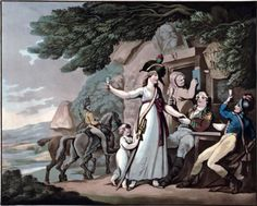 "Enlisting Lasses: Women Who Aspired to be Soldiers. (Image is ""She Will be a Soldier"" by Thomas Rowlandson, circa 1798. (Anne S. K. Brown Military Collection)"