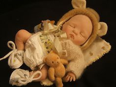 MINI COLLECTABLE OOAK POLYMER CLAY BABY SCULPT DOLL BY Jenna RASBUBBYHILL