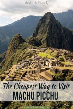 Not willing to shell out big bucks for a tour? That's a good choice! Here's how to visit Machu Picchu on a budget, it's more of an adventure this way. #peru #machupicchu #machupichu #budgettravel