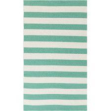 Newport Beige/Teal Striped Rug