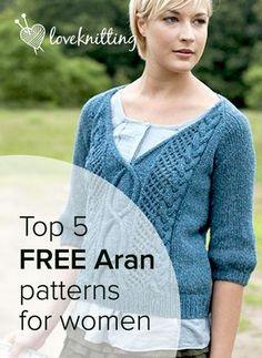 Top 5 free aran knitting patterns for women jumpers aran top 5 free aran knits for women dt1010fo