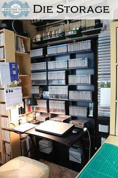 #papercraft #crafting supply #organization. Die Storage 2014 - Becca Feeken with Amazingpapergrace.com