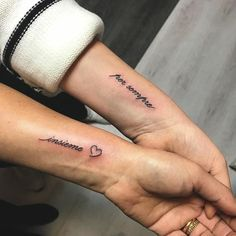 Matching sister tattoos, cousin tattoos, tattoos for daughters, sister quot