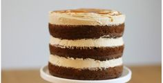 Banana Layer Cake with Salted Caramel Buttercream   Made From Scratch