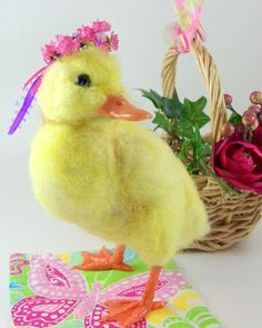 Needle Felted Art by Robin Joy Andreae: Baby Duck
