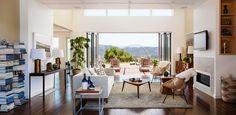 Custom Home Interior - Breezespace - Nanawall Sliding Glass Door - Wood Flooring