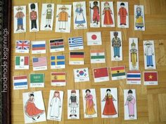 handmade beginnings: Flags and Kids Around the World