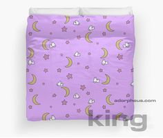 Sailor Moon inspired Duvet Cover Bedspread Blanket MADE TO ORDER