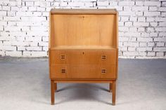 oak veneered bureau desk with lots of storage options