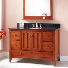 "48"" Ibarra  Vanity for Undermout Sink - Cherry"