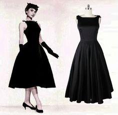 Resultado de imagen de black pin up tea length dress