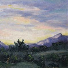 """""""First Light"""" - Original oil painting for sale - © Jane Frederick  SOLD"""