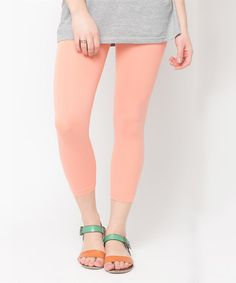 Look at this Caralase Coral Capri Leggings on #zulily today!