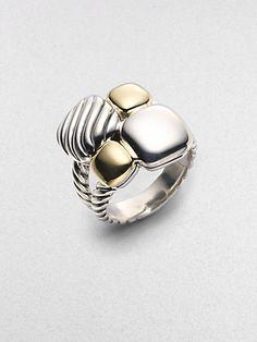 http://diamondsnap.com/david-yurman-sterling-silver-18k-yellow-gold-mosaic-ring-p-18765.html