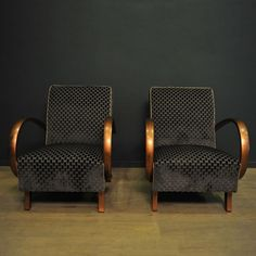 Lounge Chairs by Jindřich Halabala for Thonet