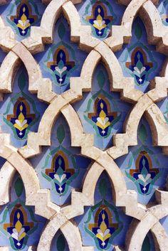 Tiles from Morocco Tile Art, Tiles, Islamic Decor, Textures Patterns, Morocco, Persian, Flag, Colours, Room Tiles