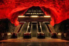 Solna Metro Station - Stockholm, Sweden