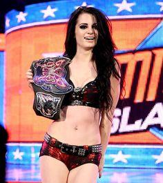 AJ Lee vs. Paige - Divas Championship Match at WWE SummerSlam in Los Angeles
