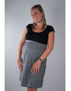 Maternité Cap Sleeve Dress  #maternity #fashion #pregnancy #style #minefornine