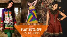 Grab the fab discount of 20% on #ethnic #kurtis from Fab Panda  http://bit.ly/V1Z7sK