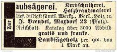 Original-Werbung/ Anzeige 1907 -  LAUBSÄGEREI / BRENDEL - MAXDORF - Ca. 45 X 20 Mm - Werbung