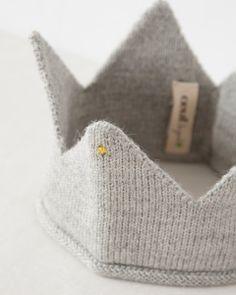 *Oeuf Crown ニットクラウン (045 light grey ライトグレー) S-L ≪COUPRIO≫ #oeufnyc #oeuf #crown #baby #kids #wool #fairtrade #alpaca