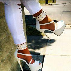 #shoes #blanco #tachas