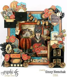 Brilliant Steampunk Spells collage by Ginny. Wow! Love the details #graphic45