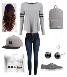 """""""Baseball player Date"""" by alexisshimek ❤ liked on Polyvore featuring Boohoo, Vans, Herschel Supply Co., Billabong and Tiffany & Co."""