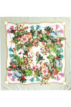 Dolce & Gabbana|Printed silk-satin scarf|NET-A-PORTER.COM
