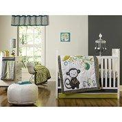 Safari Monkey - 4pc Crib Bedding Set