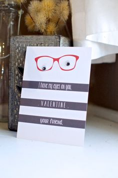 Flat  Custom Printed Valentine's Day Cards - Personalized Greeting Cards - Choose your colors - (Set of 5) $7
