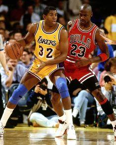 MICHAEL JORDAN AND MAGIC JOHNSON NBA LEGENDS  8X10 SPORTS PHOTO (OP-089)