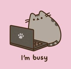 Pusheen sur sons PC portable de chat