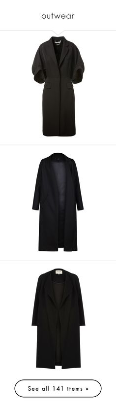 """outwear"" by eva-jez ❤ liked on Polyvore featuring outerwear, coats, givenchy coat, wool coat, givenchy, woolen coat, oversized wool coat, jackets, coats & jackets and black"