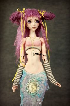 BJD Ball Jointed Doll | BJD Doll , Purple Mermaid