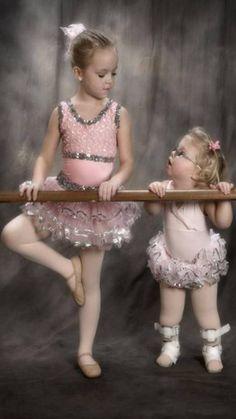 She wants to dance like her big sister! ♥