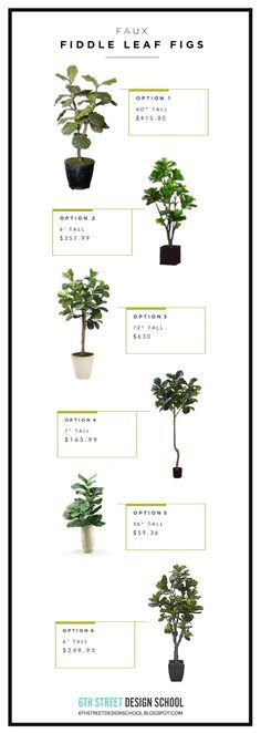 Faux Fiddle Leaf Fig Trees - 6th Street Design School