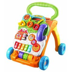 We bought the Vtech Sit to Stand Learning Walker for our toddler who is such a busy guy. The Vtech Sit to Stand Learning Walker has lots of activities on it Fisher Price, Baby Toys, Kids Toys, Baby Baby, Cool Toddler Toys, Toddler Music, Toddler Daycare, Toddler Play, Baby Lernen