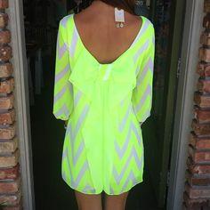 Neon Chevron Dress