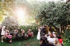 Sun-filled Seattle garden ceremony